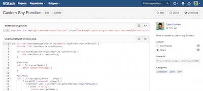 Snippets for Bitbucket Server